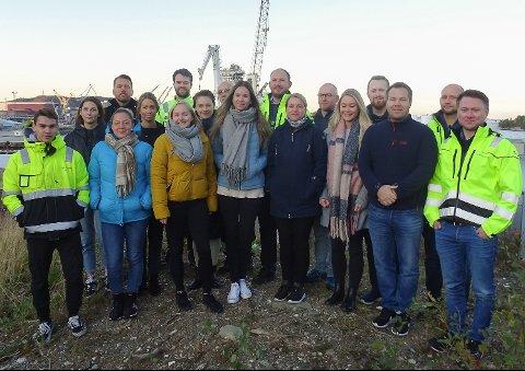 18 av dei 29 nytilsette på Fjord Base 2019