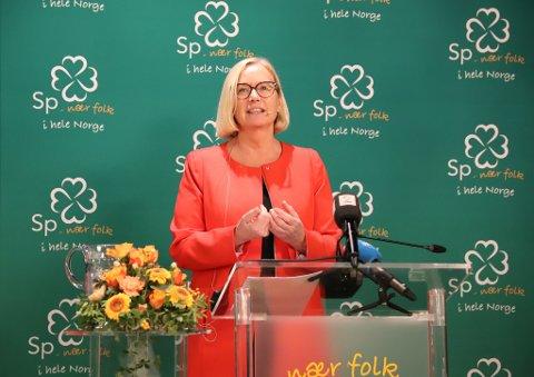 Marit Arnstad, parlamentarisk leiar i Senterpartiet.