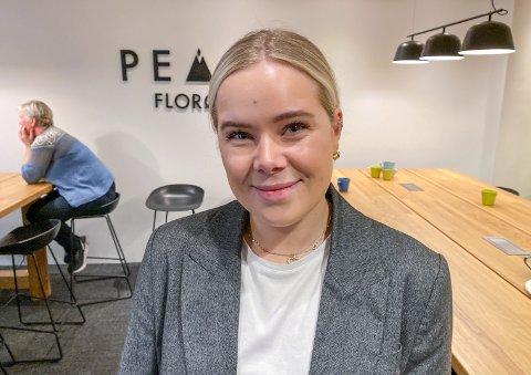 MARKNADSFØRAR: Lene Ellingsund presenterte denne veka ei ny kursplattform som dei har utvikla sjølv i Avent Digital.
