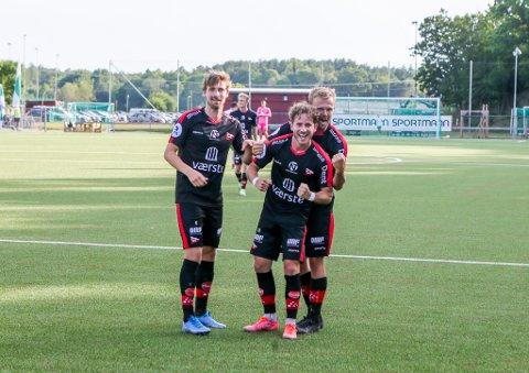 Mål: Ludvig Begby kunne juble etter 3-0-scoringen.