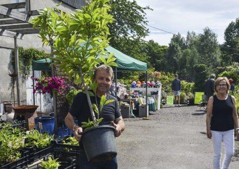 NYTT TRE: Vidar Hansen gikk til innkjøp av et Magnolia-tre. ALLE FOTO: Jenny Marie Baksaas