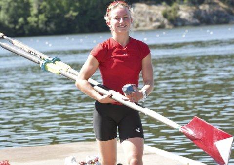 Nordisksølv: Mia Falch var fornøyd med utviklingen den norske dobbeltfireren har vist. foto: vidar Kalnes