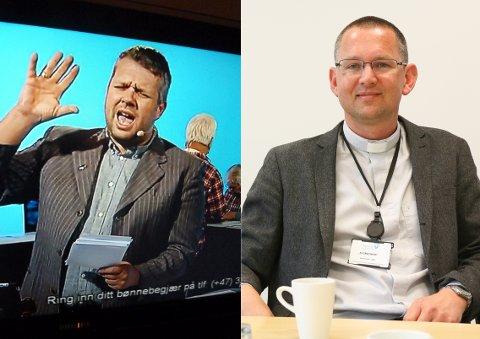 Svein Lindset er bønnesjef i Visjon Norge. Oddbjørn Stangeland er sokneprest på Ålgård.