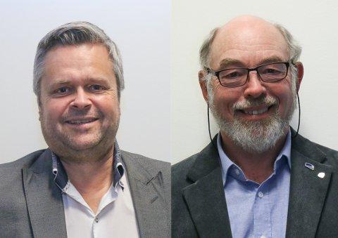 Espen Aaserud Karlsen (FrP) og varaordførar Henry Tendenes (H) representerer dei to partia som ønskjer at Gjesdal skal bli ein del av ein større kommune.