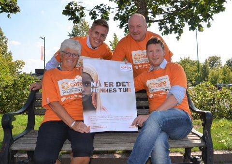 Berit Heggeund, Kristian Botten Pedersen, Bjørn Benny Åslie og Emil Rundberget i TV-aksjoneskomiteen i Åsnes har som mål  å sørge for at alle husstander får besøk av en bøssebærer på aksjonsdagen den 20.oktober.