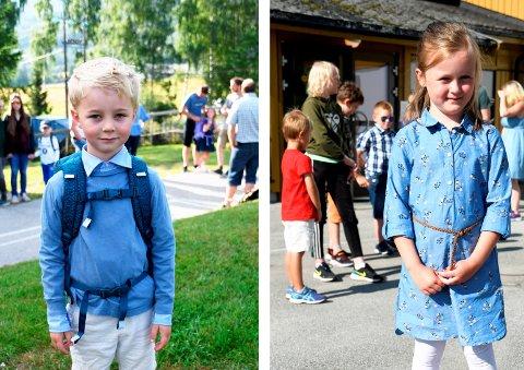 Lavrans Gjøstøl Solberg og Ingvild Træet hadde begge sin første skoledag mandag. Lavrans begynte på Harpefoss barneskole, mens Ingvild går på Midtbygda skole. Om sju år han det hende at de to går ut fra den samme skolen i Sør-Fron.