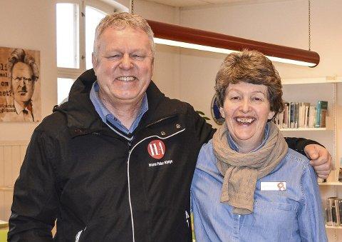 VIKTIG TEMA: Hans-Petter Kjøge og Nina Ewart mener integrering er et viktig tema og håper mange tar turen på mandagens folkemøte.