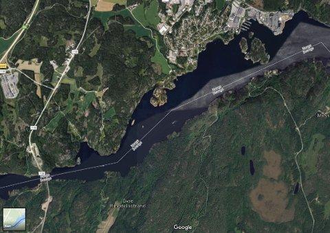 JERNBANE: En ny, svensk rapport konkluderer med at det er bedre å knytte Østfold og Bohuslän sammen med en jernbane som går over Ringdalsfjorden og rett ned til Göteborg, enn en jernbane som følger dagens spor inne i landet.