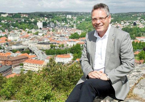 Ordfører Thor Edquist har 2,5 år på seg til å planlegge 350-årsjubileet til Halden. Arkivfoto: Stein Johnsen