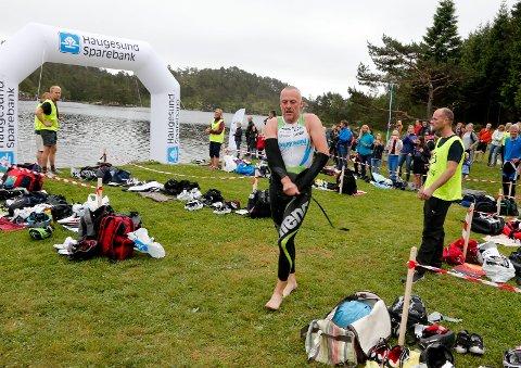 IMPONERTE: Ivar Jacobsen, også kjent som Ironman-sjefen, var nest best på svømmingen. Han kom til slutt på 14. plass.
