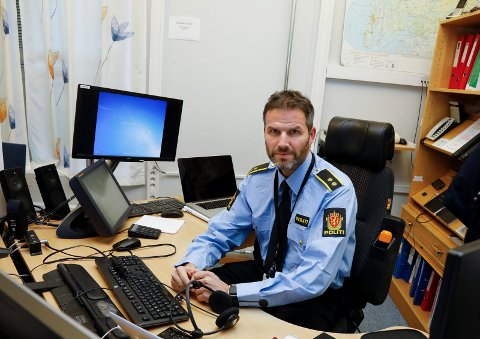 POLITIET: Operasjonsleder Rune Plassen i Sør-Vest politidistrikt ber folk om å kutte samtalen hvis de får oppringninger om noe som minner om tull eller svindelforsøk.