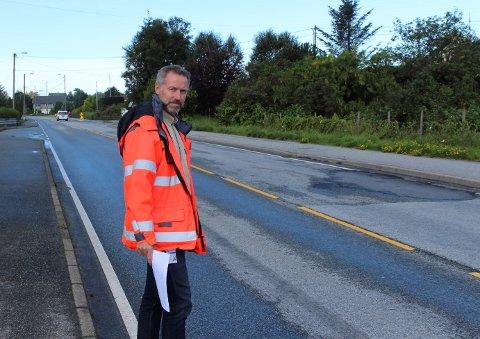 VEGVESEN: Trafikksikkerhetskoordinatoren i Statens vegvesen, Johnny Pedersen, sier at håndbøkene er fulgt ved Haukås. Likevel kjører bilister stadig over fartsgrensen. (Arkivfoto).
