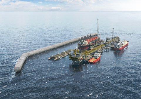 TERMINAL: Petroleumselskapet BPs terminal i prosjektet «Greater Tortue Ahmeyim», som Uptime skal levere gangløsning for.