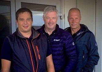 TIL HAUGESUND: Veøy etablerer seg i Haugesund. Her er Øyvind Andersen (leder, medisin), Espen Angvik (markedsdirektør) og Stig Johnsen, som skal lede avdelingen i Haugesund.