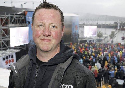 Havna: Morten Rudi Johansen lover bedre vær under årets festival i Sandnessjøen.