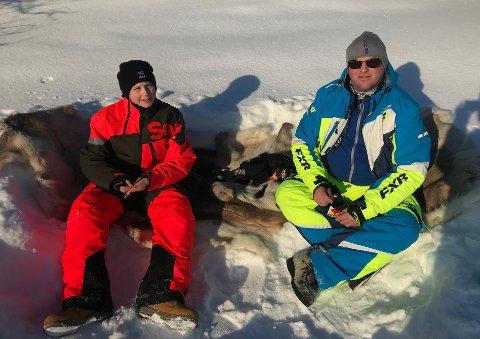 SOL OG KVIKK LUNSJ: Påsken for familien Eriksen brukes til å være så mye ute som mulig. Her er Evind sammen med sønnen, Noah Mauseth Eriksen.