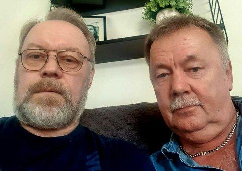 SOM FØR: - Her i Sverige går hverdagslivet sin vante gang, sier de to utflytta hammerfestingene Stein Monsen og Trond Fjær.