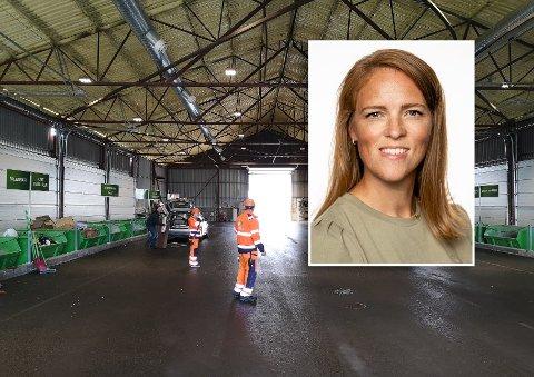 HÅPEFULL: Lena Bratsberg (V) har forhåpninger om at graden av gjenvinning går opp hos HRS i Harstad etter omleggingen av søppelsortering i 2020. I dag blir kun 33 prosent av søppelet gjenvunnet.