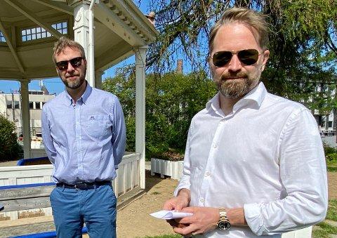 GÅR SEG TIL: I forrige uke fortalte kommuneoverlege Jonas Holte og kommunikasjonsdirektør Øivind Arvola om bestillingssystemet for vaksine i Harstad. Det har stort sett gått bra, selv med 6.000 som registrerte seg, men noen justeringer må til.