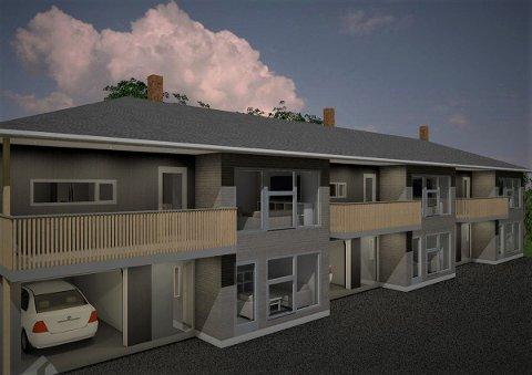 NYTT BOLIGPROSJEKT: Aktiv Eiendom og Carl Øistein Grue AS skal bygge romslige rekkehus.