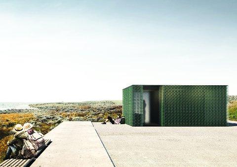 LANTERNE: Slik kan eit toalettbygg i Madland hamn bli. Bygget er tenkt som ei lanterne og er planlagt i glass og resirkulert plast.