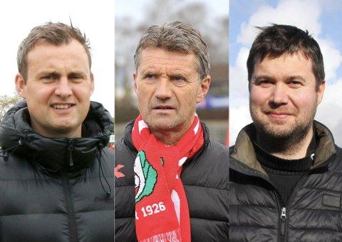 OPTIMISTER: Roger Eskeland (f.v.), Gabriel Høyland og Geir Pollestad.