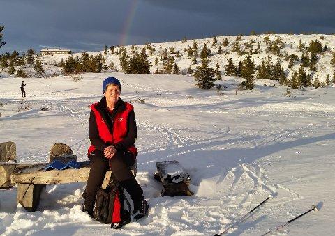 STRABASIØS TUR: Eira Weseth fikken lærerik opplevelse da hun gikk seg vill i skogen på Blefjell. Her er hun på en annen tur i nærheten av Strutåsen på Blefjell.