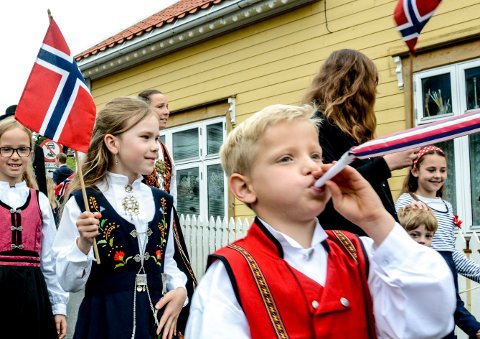 Fra barnetoget i Kragerø i fjor.