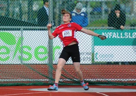 DEBUTANT: Ådne Bertin Stuland Olsen gjorde ein god figur i sitt første UM i friidrett sjølv om det ikkje blei nokon topplasseringar denne gongen. (Pressefoto).
