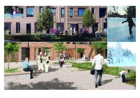 SKISSE: Slik presenteres prosjektet på Raumyr i en tidlig fase av planen.