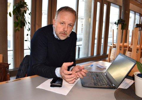 STOR BUNKE: Kommunalsjef i Kongsberg kommune Jens Sveaass forteller om mye respons og en del overraskelser under høring av kommuneplanens arealdel.