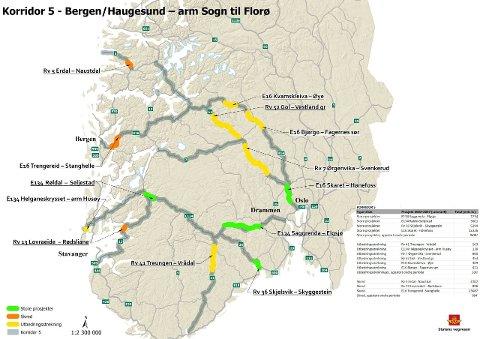 PRIORITET: E134 Saggrenda - Bolkesjø er en av strekningene Statens vegvesen prioriterer i neste NTP.