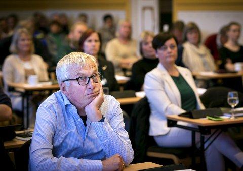 IKKE PÅ LINJE: Søren Falch Zapffe (H) er foreløpig positiv til etableringen på Lyngås. Tove Hofstad (V) er mer skeptisk.