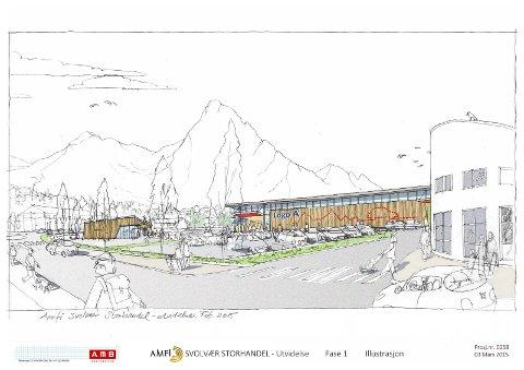 Slik: Det kan bli slik i Svolvær. Illustrasjon: AMB arkitekter