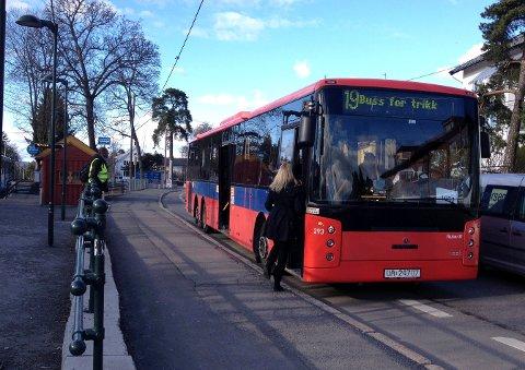 BUSSHELG: Det blir buss for trikk på Ekebergbanen deler av førstkommende helg. Arkivfoto