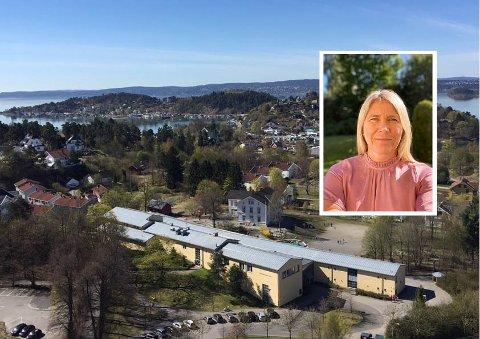 REKTOR Kjersti Dahl måtte ta den tunge avgjørelsen om å stenge skolen denne uken som smitteverntiltak for elever og ansatte: - Det er en vanskelig avgjørelse å måtte ta, men samtidig en helt riktig avgjørelse, sier hun.