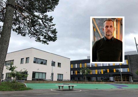 SMITTE: Rektor ved Nordseter skole, Gjermund Jørgensen, forteller at en lærer på skolen er smittet og rundt 90 barn nå er satt i karantene.