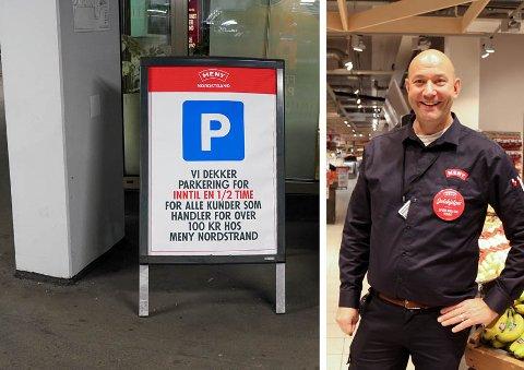 FORSTÅR FRUSTRASJONEN: Kjøpmann Sven Fjellseth på Meny Nordstrand forstår at kundene reagerer, men sier det var alt for dyrt med én time.