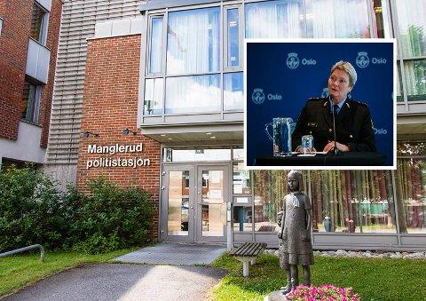 Politimester Beate Gangås sier bekrefter at de har funnet ny lokasjon til politistasjonen på Manglerud, men vil ikke si noe om hvor.