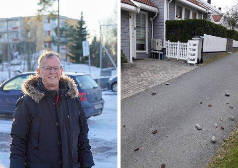 REDD: Tore Skau og naboene frykter de en dag skal få en stein i hodet. Nå vil Utdanningsetaten gjøre grep.