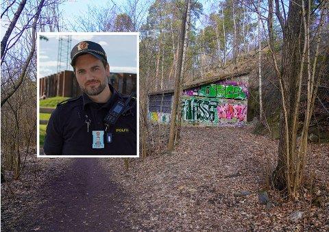 Jonas Håreksson Andreassen, i forebyggende avdeling ved Manglerud politistasjon har bedt om å gjøre denne trafoen mindre attraktiv for rusmisbrukere.