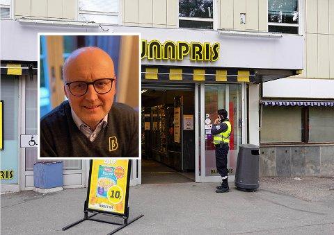 Regiondirektør John Odden bekrefter at det var kjøpmannen som ble angrepet i går ved Bunnpris.
