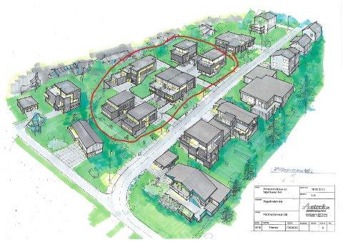 De nye planene slik de frastår sett i fugleperspektiv ovenfra.Illustrasjon: Astrek arkitekttjenester.