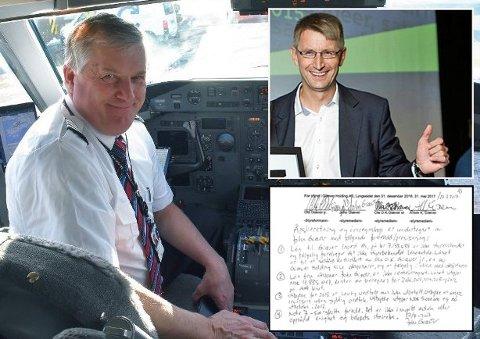 UENIGE OM PENGER: Flygründer og forretningsmann Ola O.K. Giæver jr (t.v.) har hatt full kontroll over familieselskapet han eier sammen med broren John Giæver (t.h.).