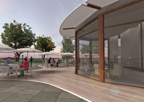 Ny kiosk ligger i tredje og siste byggetrinn i Jernbaneparken, og skal etter planen utføres neste år.
