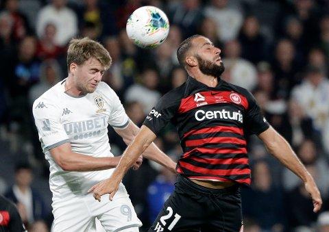 Leeds United og Patrick Bramford (t.v.) har hatt trøbbel på bortebane denne sesongen.