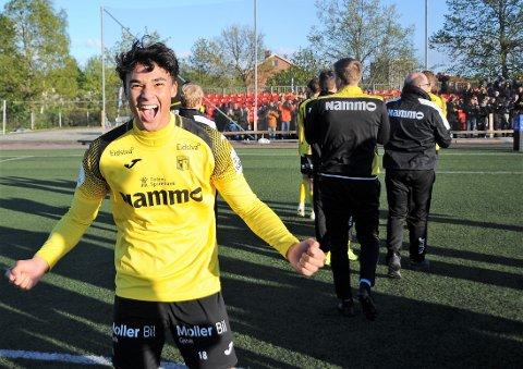 Ikhsan Fandi jubler etter å ha scoret seiersmålet mot Skeid.