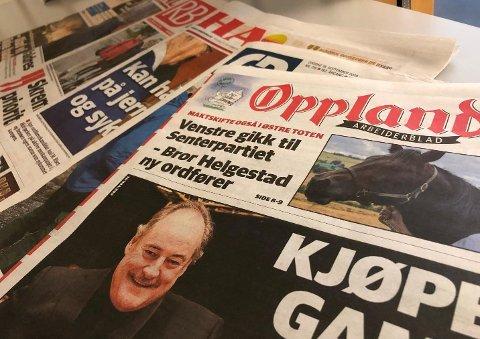 NYE TALL: Onsdag 18. september kom årets andre statusoppdatering på opplagstallene for landets aviser. De viser at Oppland Arbeiderblad holder stand i forhold til de andre avisene i Innlandet.