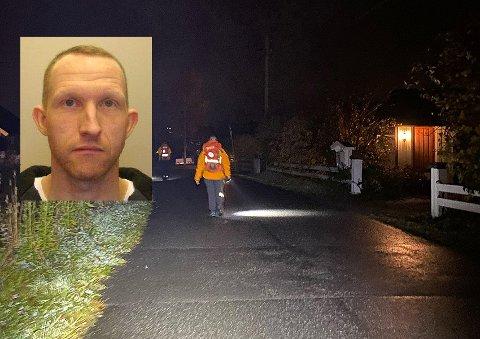 MER KONKRET: Letingen etter Christian Berg (innfelt) innstilles i natt. Politiet jobber med å samle informasjon i håp om å kunne gjøre mer målrettede søk torsdag.