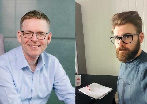 GJESTER: NHOs regiondirektør i Innlandet, Jon Kristiansen (t.v.) er sammen med Vestre Totens ordfører Stian Olafsen (Ap) gjest i denne utgaven av OA-podden.